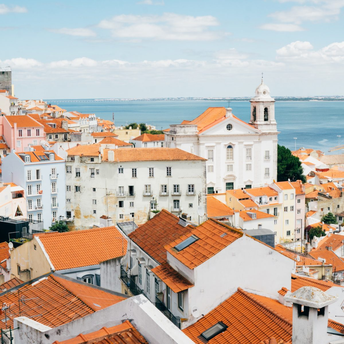 An amazing city view from Lisbon, Portugal
