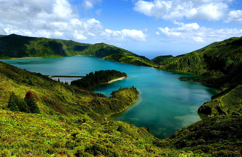 Lagoa do Fogo in Azores island, Portugal