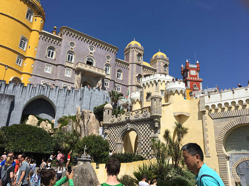 A view from Pena Palace, Sintra, Portugal